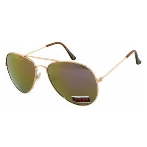 Slnečné okuliare AVIATOR - pilotky zlatý kovový rám zlatofia