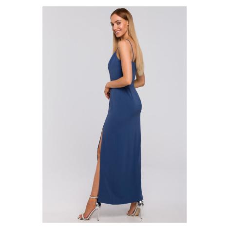 Modré šaty M485 Moe