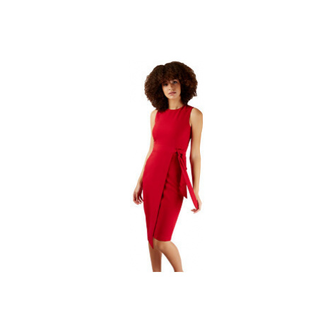 Closet London Dámske šaty Closet Tie V-Back Pencil Dress Red