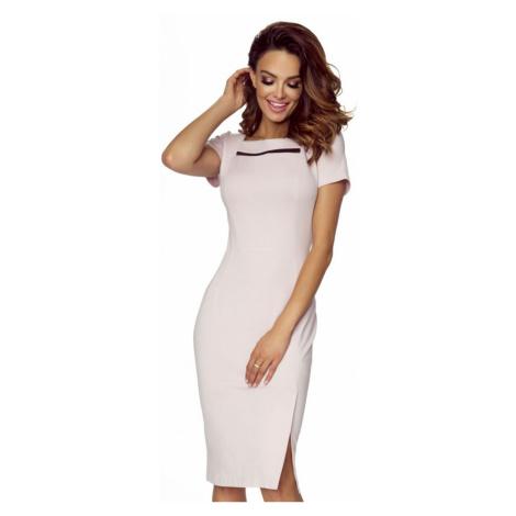 Svetloružové šaty M56707 Bergamo