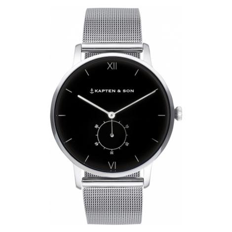 Kapten & Son Analógové hodinky 'Heritage'  strieborná / čierna