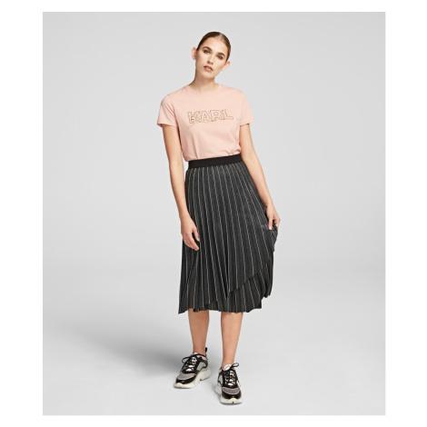 Sukňa Karl Lagerfeld Metallic Pleated Skirt