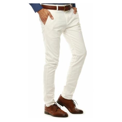 Men's white chino trousers UX2600 DStreet