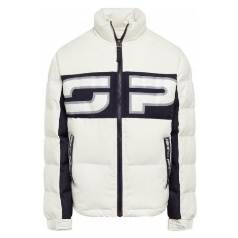 SOUTHPOLE Zimná bunda  biela / čierna