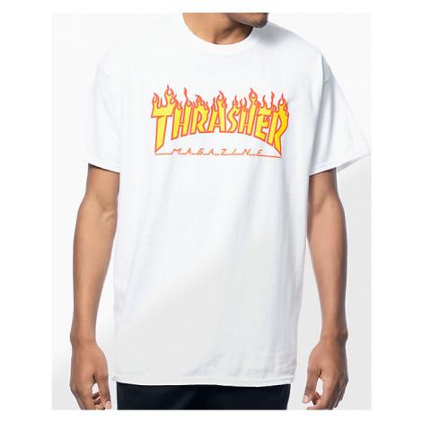 Pánske biele tričko Thrasher Flame logo Farba: Biela