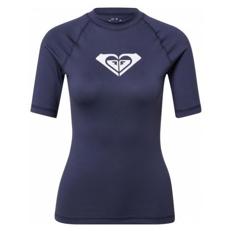 ROXY Funkčné tričko 'WHOLEHEARTED'  modrofialová / biela