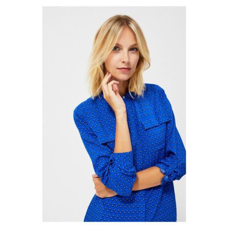 Geometric patterned shirt - blue Moodo