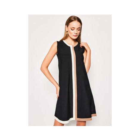 Luisa Spagnoli Úpletové šaty Clessidra 568774 Čierna Regular Fit