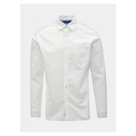 Biela slim fit košeľa Jack & Jones Caleb