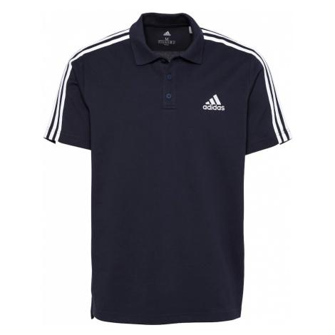 ADIDAS PERFORMANCE Funkčné tričko  biela / tmavomodrá
