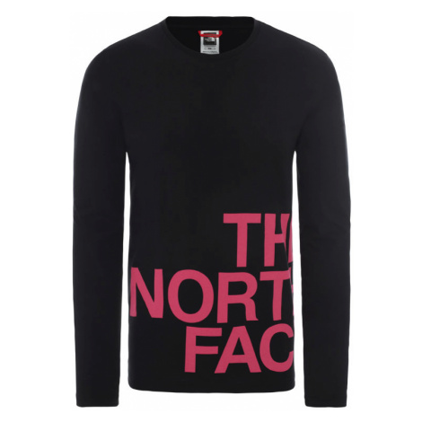 The North Face M Ls Graphic Flow - Eu Tnf Black/Mr. Pink-XL čierne NF0A4927J94-XL