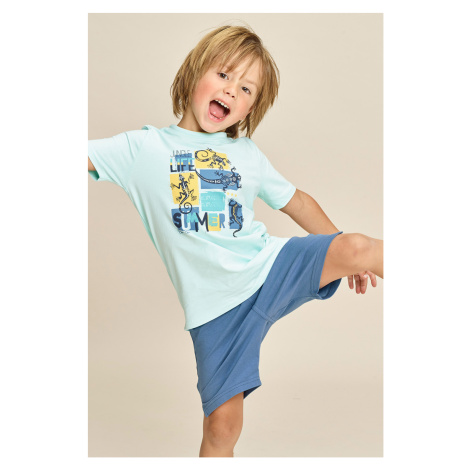 Chlapčenské pyžamo Lizard modrá