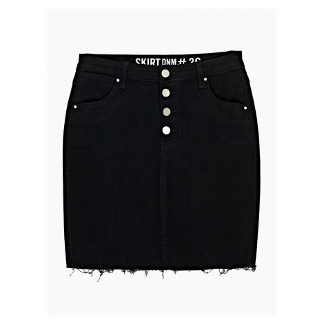 GATE Denimová sukňa s neopracovaným spodným lemom