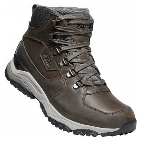 KEEN Pánske členkové topánky Innate Leather Mid Wp M Almond