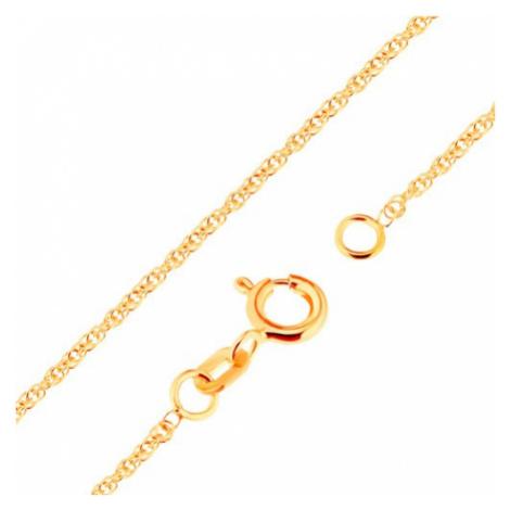 Zlatá retiazka 750 - ligotavé prepojené oválne očká, 500 mm