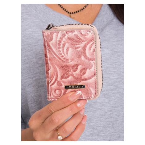 Malá ružová kožená peňaženka