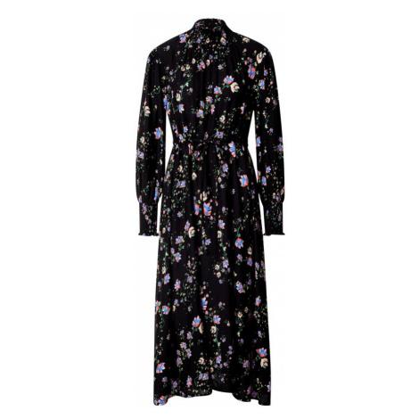 Miss Selfridge Šaty  čierna / svetlomodrá / lososová / svetložltá / zmiešané farby