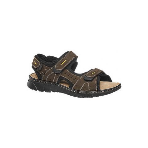 Hnedé kožené sandále Claudio Conti