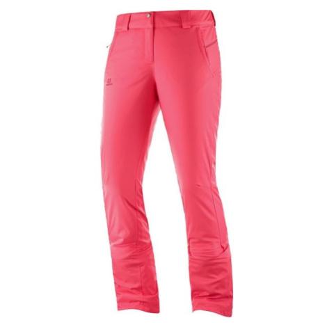 Salomon STORMSEASON ružová - Dámske lyžiarske nohavice