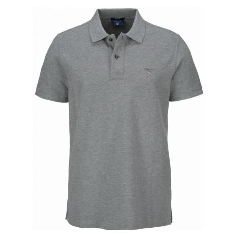 GANT Tričko 'Rugger'  sivá melírovaná / tmavosivá / ohnivo červená / námornícka modrá / biela