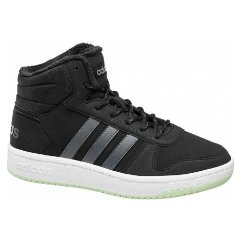 adidas - Čierne členkové tenisky Adidas Hoops Mid 2.0