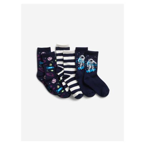 Ponožky 3 páry dětské GAP Modrá