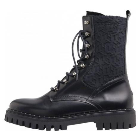 Tommy Hilfiger MATERIAL MIX TH BOOTIE - Dámska kožená obuv