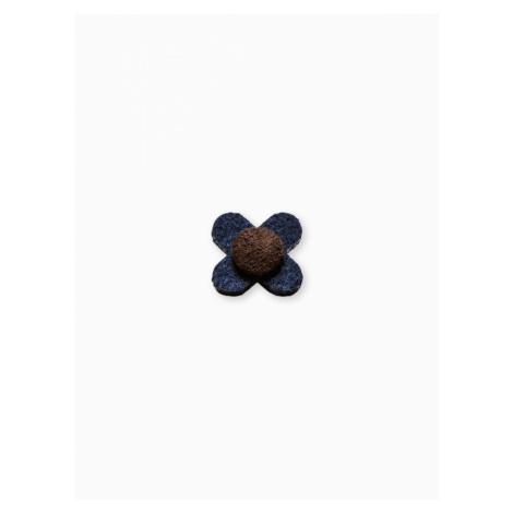 Ombre Clothing Men's lapel pin flower A242 Navy/Blue