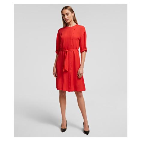 Šaty Karl Lagerfeld Silk Dress W/ Detachable Tie