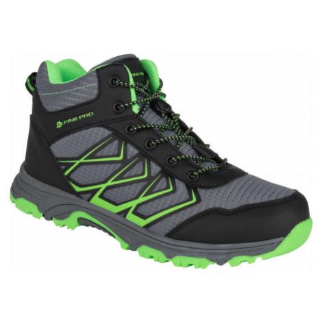 ALPINE PRO JACOBO MID zelená - Detská outdoorová obuv