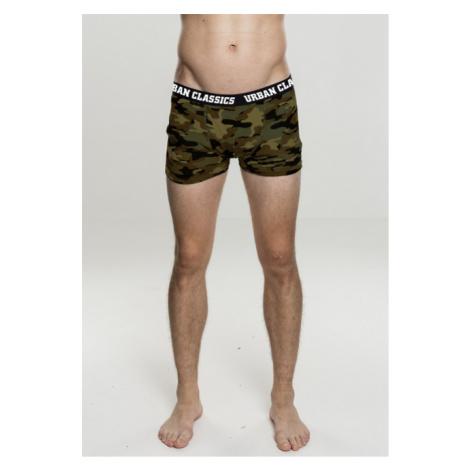 Urban Classics 2-Pack Camo Boxer Shorts woodcamo + darkcamo - Veľkosť:4XL