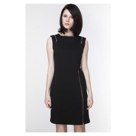 Čierne šaty ASU0011 Ambigante