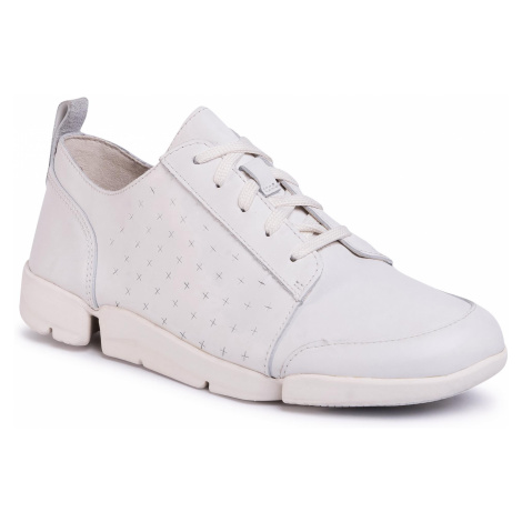 Sneakersy CLARKS - TriAmelia Edge 261504024 White Leather