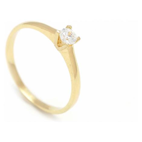 Zlatý zásnubný prsteň COSMOS