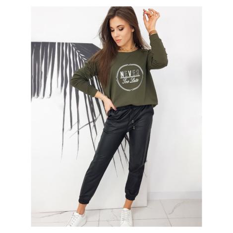NEVER khaki women's oversize sweatshirt BY0635 DStreet