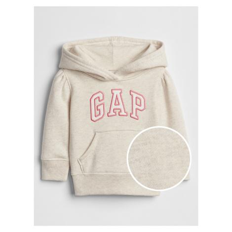 GAP béžová dievčenská mikina s logom