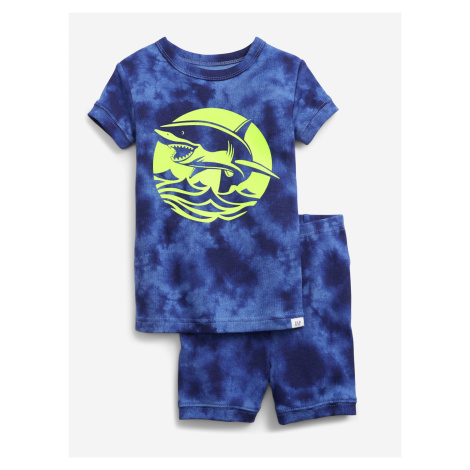 Glow-in-the-Dark Shark Graphic Pyžamo dětské GAP Modrá