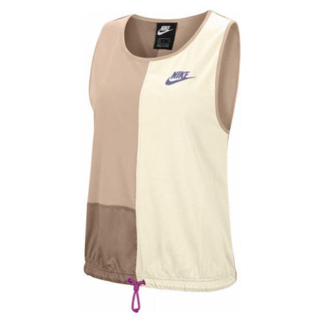 Nike NSW ICN CLSH TANK W béžová - Dámske tielko