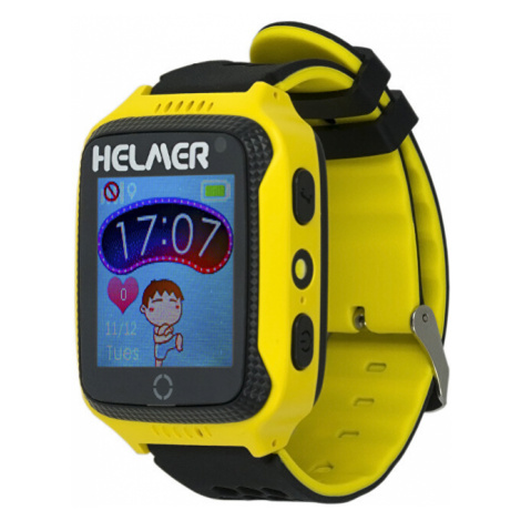Helmer Smart dotykové hodinky s GPS lokátorom a fotoaparátom - LK žlté