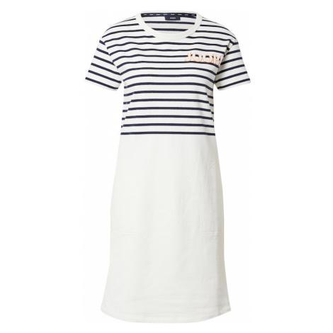 JOOP! Letné šaty 'Trina'  tmavomodrá / biela / oranžová