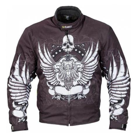 Moto bunda W-TEC Akyra Farba čierna s potlačou