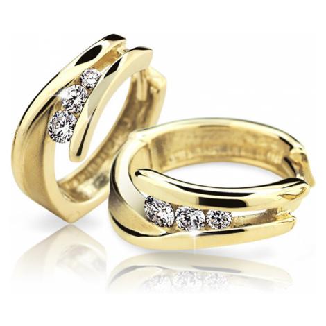 Cutie Diamonds Pôvabné kruhové náušnice zo žltého zlata s briliantmi DZ6433-1794-80-00-X-1 Cutie Jewellery