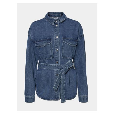 Modrá džínsová košeľa Noisy May Emily