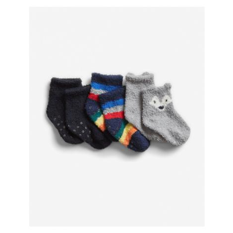 GAP Ponožky 3 páry detské Viacfarebná