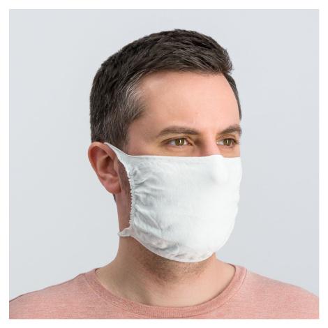 Ochranné rúško na tvár AG+ UNI 5KS White