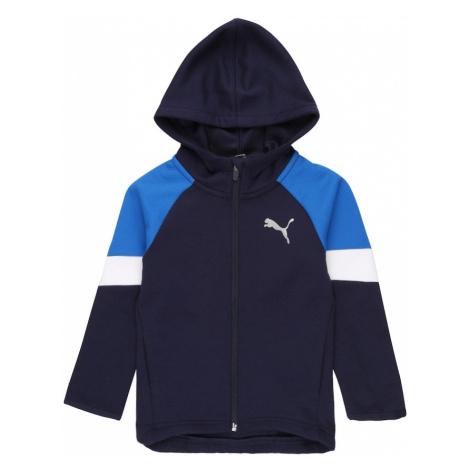 PUMA Tepláková bunda 'Active'  modrá / biela / námornícka modrá