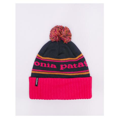Patagonia Powder Town Beanie Park Stripe: Craft Pink w/Navy Blue