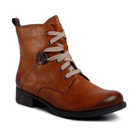 Šnurovacia obuv Rieker 70842-22 Imitácia kože/-Imitácia kože