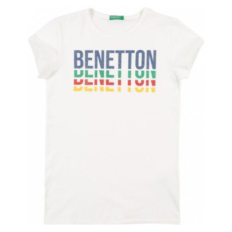 UNITED COLORS OF BENETTON Tričko  biela / námornícka modrá / limetová / melónová / žltá