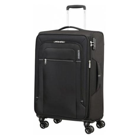 American Tourister Látkový cestovný kufor Crosstrack EXP M 71,5/77 l - černá